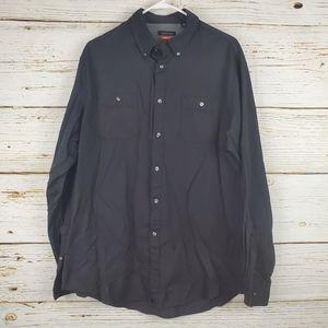 Van Heusen Black Button Down Shirt